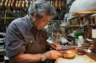 Israeli Amnon Weinstein, 76, is a luthier born into a family of Lithuanian Jews who escaped from the Holocaust