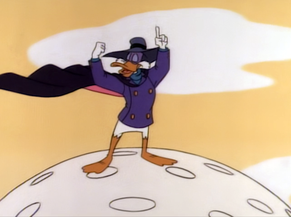 Darkwing Duck is both brave and conceited.