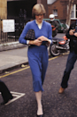 <p>Diana was a big fan of cornflower blue, as demonstrated by this monotone look, and who can blame her? She wears it so well. </p>