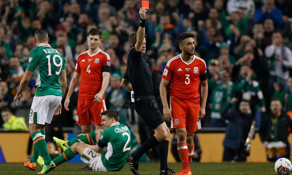 Memories of Neil Taylor's sending-off for his foul on Séamus Coleman in Dublin will ensure passions run high in Cardiff when the Republic of Ireland face Wales.