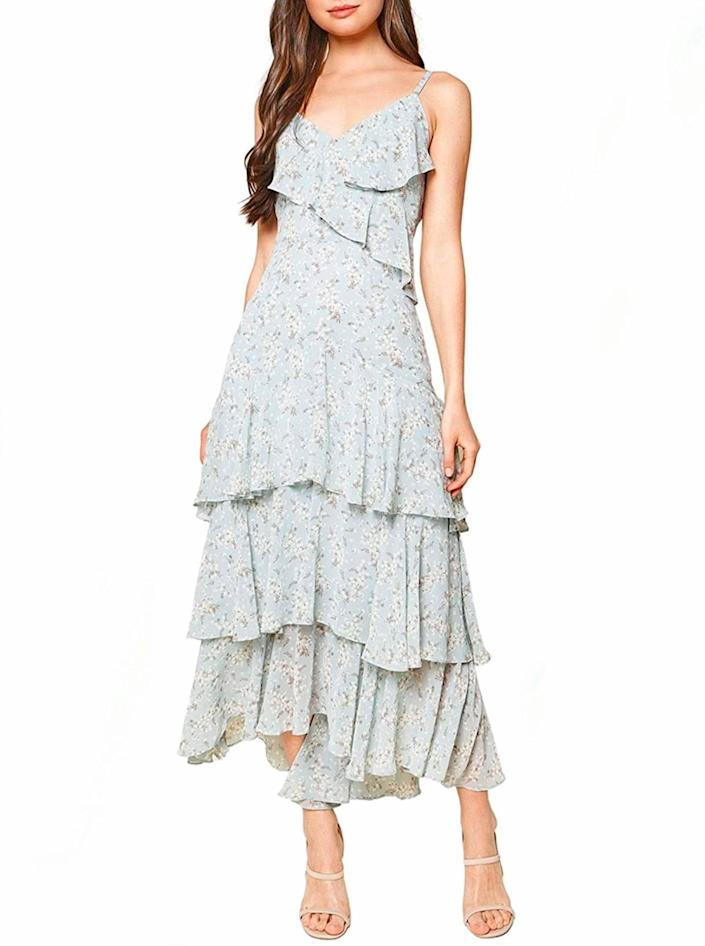"""Another frilly number at a seriously sweet price. $40, Amazon. <a href=""""https://www.amazon.com/Sugarlips-Womens-Floral-Ruffled-Blue-Multi/dp/B08L78JJMG/ref="""" rel=""""nofollow noopener"""" target=""""_blank"""" data-ylk=""""slk:Get it now!"""" class=""""link rapid-noclick-resp"""">Get it now!</a>"""