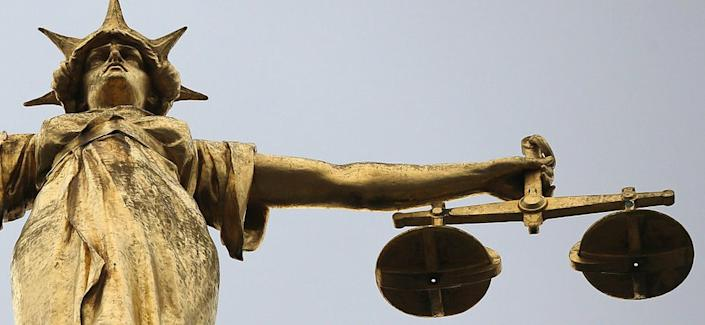 Statue of the scales of justice