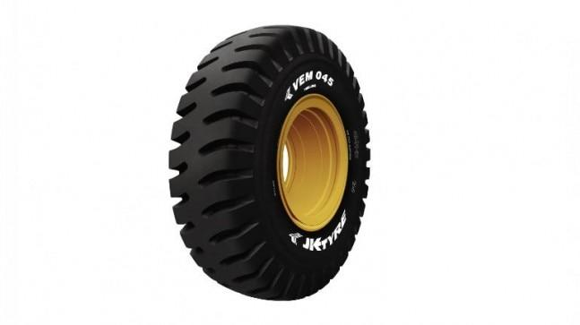 JK Tyre and Industries has specifically introduced VEM 045 for the country's biggest rigid dump-truck that has a payload capacity of upto 240 tonnes.