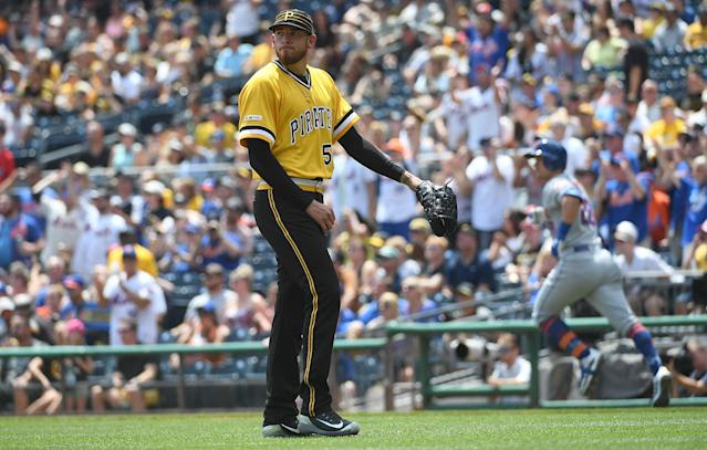 "<a class=""link rapid-noclick-resp"" href=""/mlb/players/10185/"" data-ylk=""slk:Joe Musgrove"">Joe Musgrove</a> has been the victim of some ill-timed bad fortune. (Photo by Justin Berl/Getty Images)"