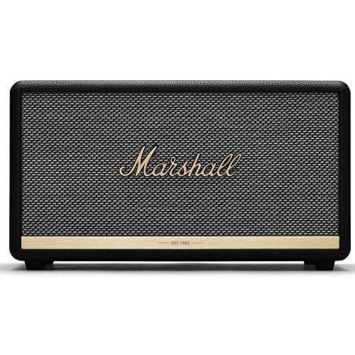 """<p><strong>Marshall</strong></p><p>amazon.com</p><p><strong>$349.99</strong></p><p><a href=""""https://www.amazon.com/dp/B07HPS9XJR?tag=syn-yahoo-20&ascsubtag=%5Bartid%7C2139.g.37612148%5Bsrc%7Cyahoo-us"""" rel=""""nofollow noopener"""" target=""""_blank"""" data-ylk=""""slk:BUY IT HERE"""" class=""""link rapid-noclick-resp"""">BUY IT HERE</a></p><p>Marshall makes some of the best speakers in the business, and this Bluetooth option is no exception. With a classic design and booming sound, this speaker produces crisp audio even at the highest settings. </p>"""