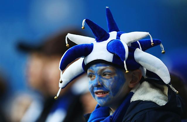 <p>Chelsea fans fill Stamford Bridge before the third game of a triple header of football </p>
