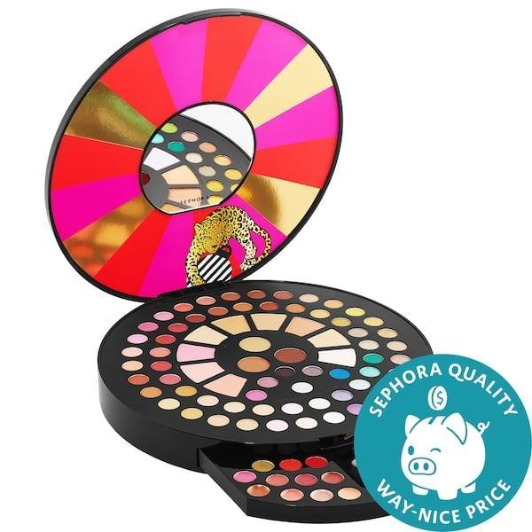 <p>Whoa, whoa, whoa - how great would this <span>Sephora Collection Wild Wishes Multi-Palette Blockbuster</span> ($36) be for a makeup-lover?! This limited-edition jumbo palette packs 60 eyeshadows, three cream eyeliners, three highlighters, three blushes, three bronzers, 11 lip glosses, one eye pencil, and two makeup brushes inside.</p>