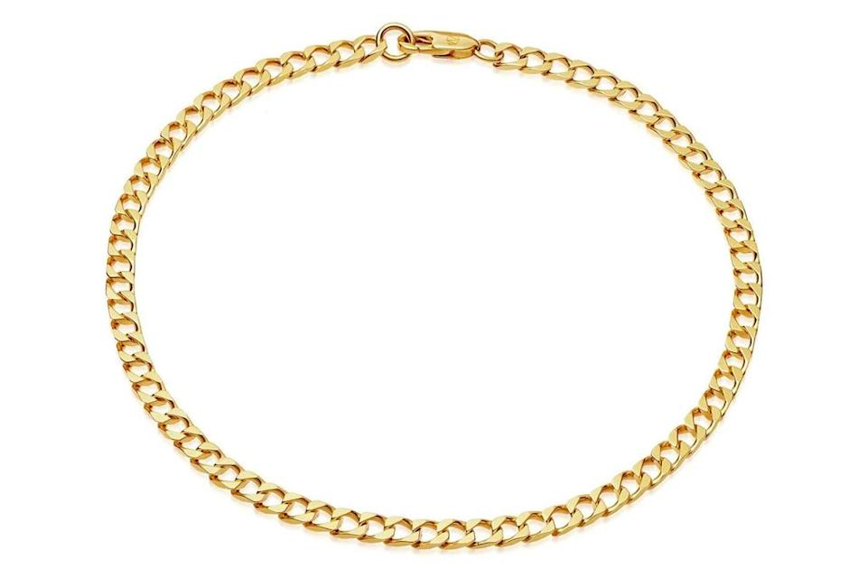 lucy williams, anklet, gold, chain