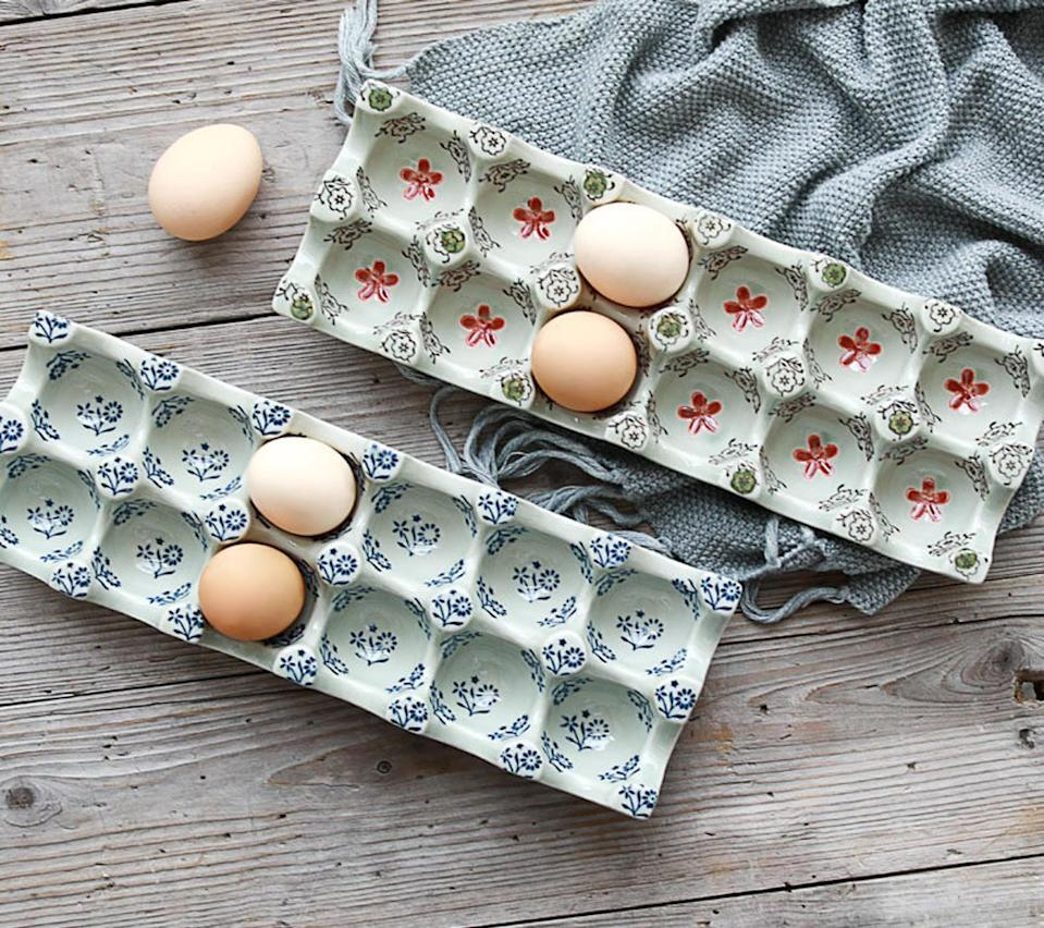 <p>Because you never know who could use an <span>AnikkiStudio Ceramic Egg Tray</span> ($57, originally $64).</p>