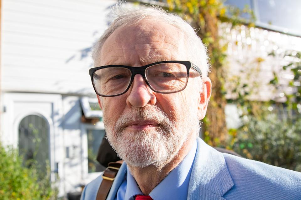Former Labour leader Jeremy Corbyn leaves his house in north London (Photo: PA)