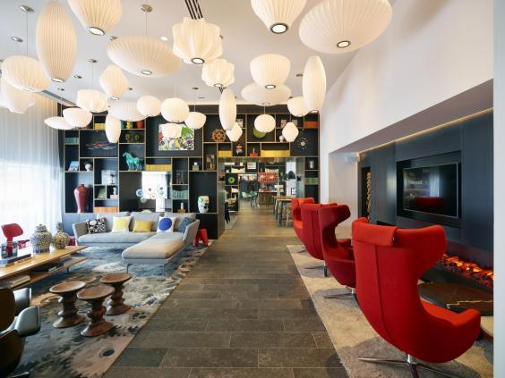 Communal areas are a good place to grab a cocktail or relax with a book (CitizenM)