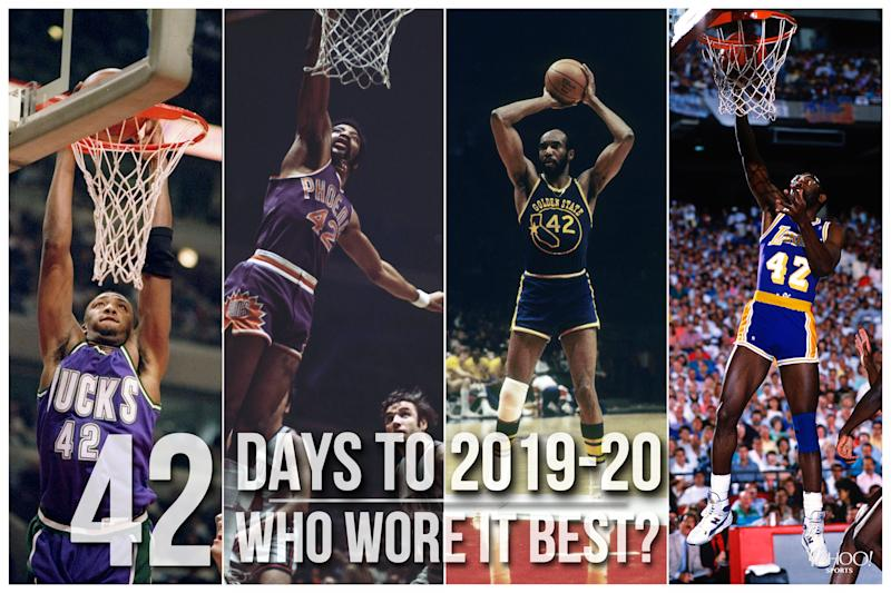 Which NBA player wore No. 42 best?