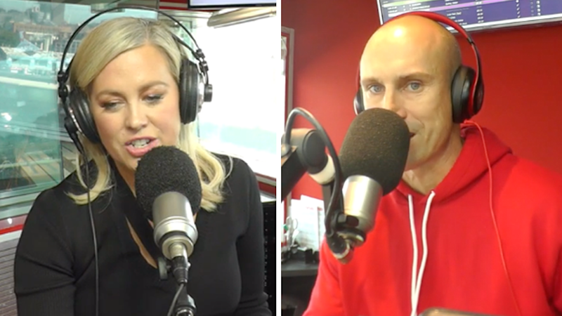 Sunrise host Samantha Armytage's on-air blunder with Nova's Ryan 'Fitzy' Fitzgerald