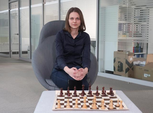 Ukrainian chess grandmaster Anna Muzychuk is surrendering her championships in protest. (Reuters)