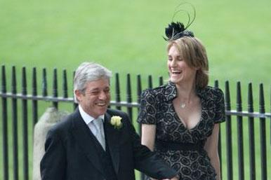 John Bercow with wife