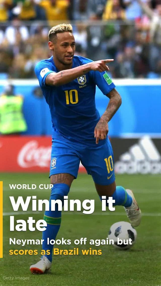 Philippe Coutinho's finish from the doorstep – and another goal by Neymar moments later – gave Brazil its first victory at this World Cup, the 2-0 win also knocking out Costa Rica after just two games.