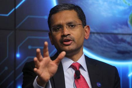 Tata Consultancy Services (TCS) Chief Executive Officer Rajesh Gopinathan attends a news conference announcing the company's quarterly results in Mumbai