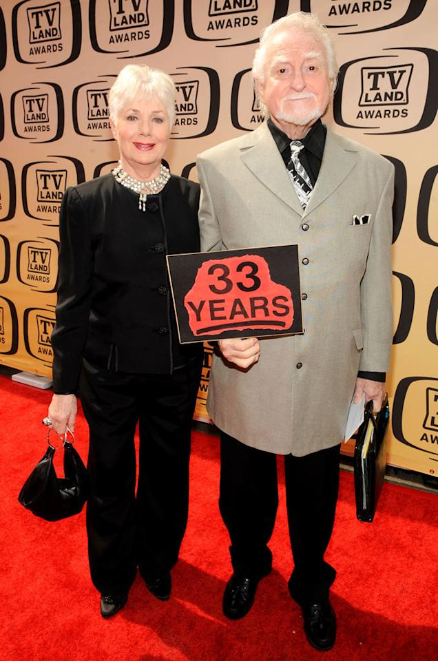 "Shirley Jones (""The Partridge Family"") and Marty Ingels arrive at the <a href=""/the-8th-annual-tv-land-awards/show/46258"">8th Annual TV Land Awards</a> held at Sony Studios on April 17, 2010 in Culver City, California. The show is set to air Sunday, 4/25 at 9pm on TV Land."