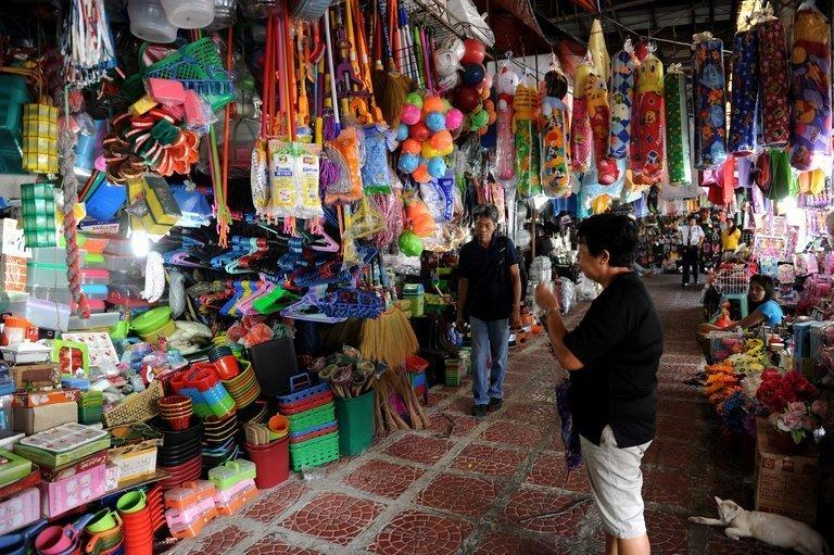 A customer looks at goods at a general merchandise store in Manila on January 4, 2013. The Philippines said Thursday the economy grew a faster-than-expected 6.6 percent in 2012, cementing its status as one of the best performing in Asia