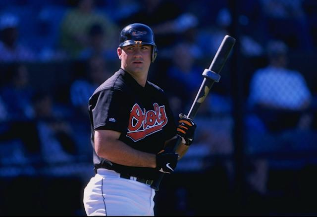 "Ryan Minor replaced Cal Ripken Jr. in the <a class=""link rapid-noclick-resp"" href=""/mlb/teams/bal"" data-ylk=""slk:Orioles"">Orioles</a>' lineup on Sept. 20, 1998. (Getty)"