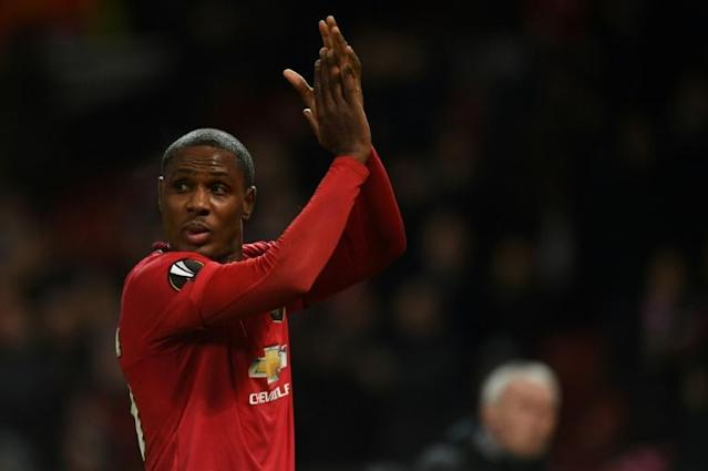 Staying put: Odion Ighalo's loan deal at Manchester United has been extended until January 2021 (AFP Photo/Oli SCARFF )
