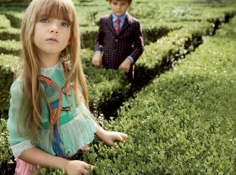 If your offspring are particularly fashion-forward, look no further than Gucci's mega-printed designs. With Alessandro Michele's whimsical patterns and even tiny recreations of Gucci bags, you can dress your little one in the finest monogram pieces. Prices range from £35 for socks to over £1000 for mini-me catwalk dresses.<br /><i>[Photo: Gucci]</i>