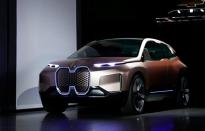 FILE PHOTO: The BMW iNEXT electric autonomous concept car is introduced during a BMW press conference at the Los Angeles Auto Show in Los Angeles
