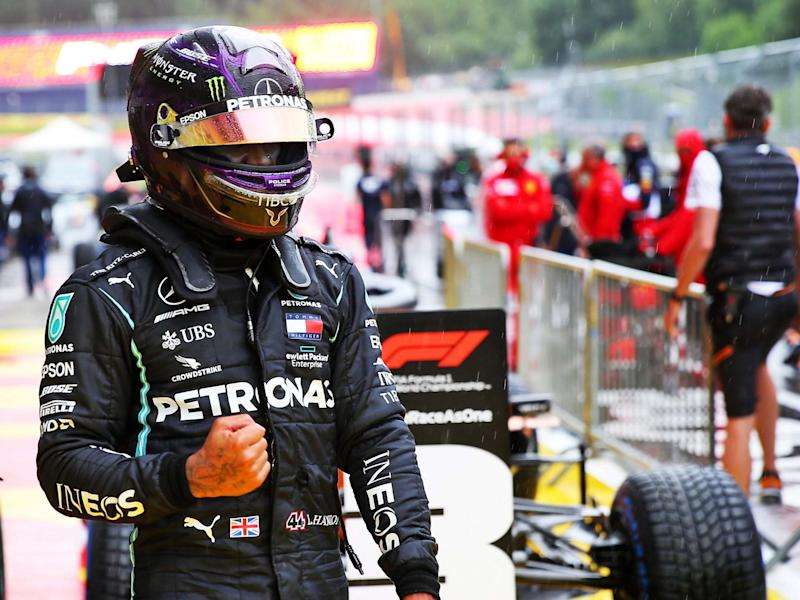 Lewis Hamilton starts the Styrian Grand Prix from pole position: EPA