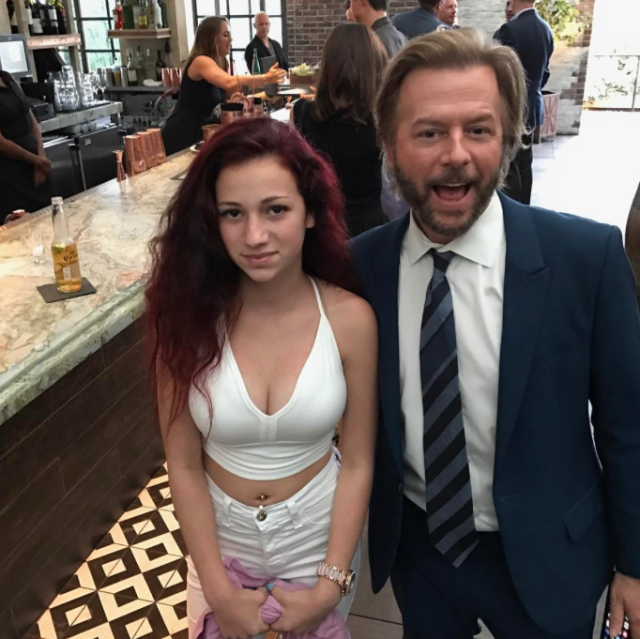 """<p>Lord only know what brought the comedian and the <em>Dr. Phil</em> guest/Internet sensation Danielle Bregoli (aka Cash Me Outside Girl) together, but one looked demonstrably more excited about it than the other. """"How bow dis. (@bhadbhabie is slightly underwhelmed to meet me ). Unfortunately she stopped being famous 5 minutes before this was taken,"""" cracked Spade on Instagram. Naturally, she <a href=""""https://www.instagram.com/p/BT1yPI3gw3a/?taken-by=bhadbhabie"""" rel=""""nofollow noopener"""" target=""""_blank"""" data-ylk=""""slk:came back with her own dis"""" class=""""link rapid-noclick-resp"""">came back with her own dis</a>: """"No lie, I thought dis guy was the waiter."""" (Photo: Courtesy <a href=""""https://www.instagram.com/p/BTzinFLBVoH/?taken-by=davidspade"""" rel=""""nofollow noopener"""" target=""""_blank"""" data-ylk=""""slk:David Spade via Instagram"""" class=""""link rapid-noclick-resp"""">David Spade via Instagram</a>) </p>"""