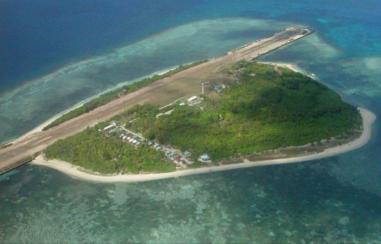 "The island of Kalayaan, which means ""Freedom"" in Filipino, that was created in 1978 mainly to assert the Philippines' claim to the disputed territory in the Spratlys, a chain of islets in the South China Sea. The Philippines has vowed to fight China ""to the last man standing"", as a Chinese warship patrolled around a remote reef occupied by a handful of Filipino marines in disputed waters"