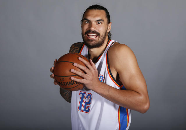Steven Adams will again be able to focus on what he does best — flex his muscle. (AP)
