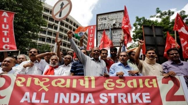 Bharat bandh today: Trade and farmers' unions have said they will stage rail and rasta roko (stop traffic and trains) protests in their respective areas. In some states, educational institutes have declared holidays and transport unions have also extended support to the strike.
