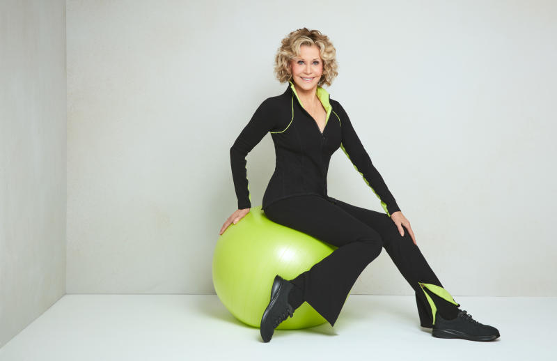 Jane Fonda Readies First Activewear Collection for Evine com