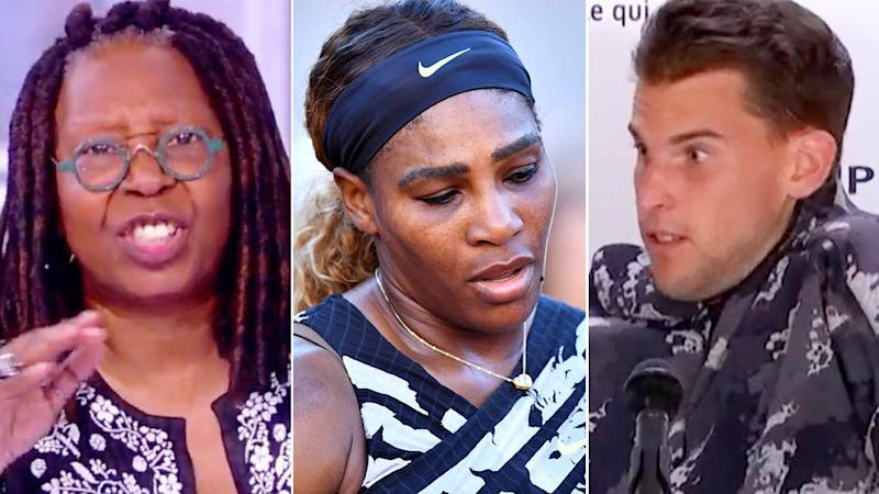 Whoopi Goldberg has blasted Dominic Thiem. Image: The View/Getty
