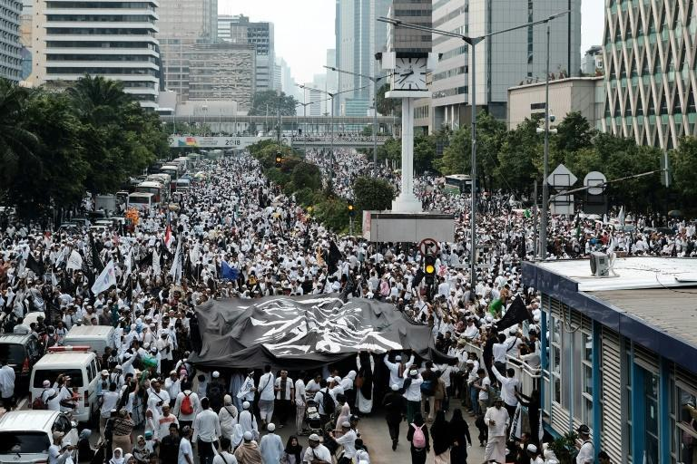 About 100,000 people joined the peaceful rally on Sunday with 23,000 officers securing the event