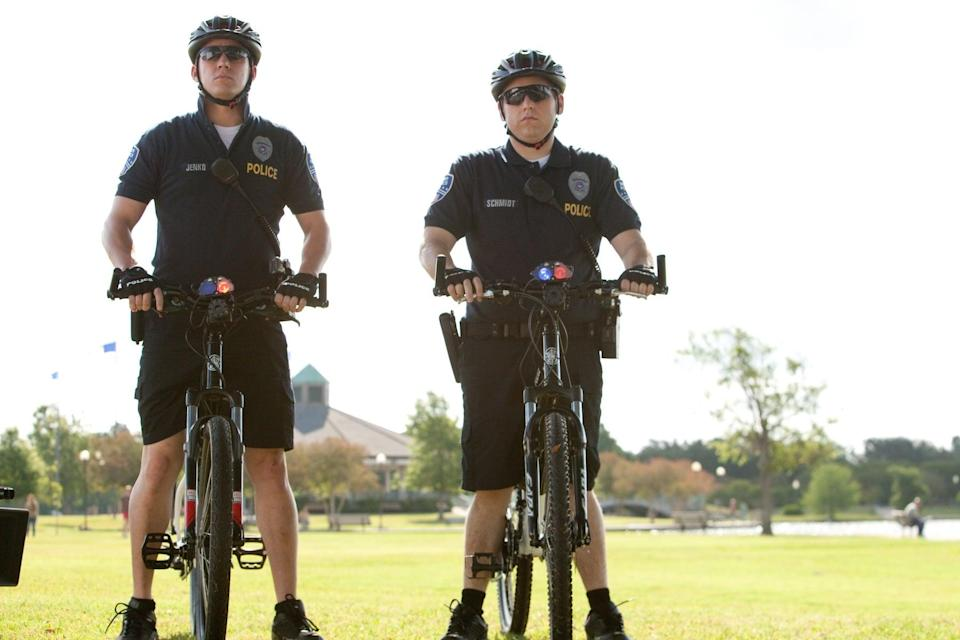 <ul> <li><strong>What to wear for both:</strong> Helmet and bicycle police uniform, complete with shorts and an actual bicycle.</li> </ul>