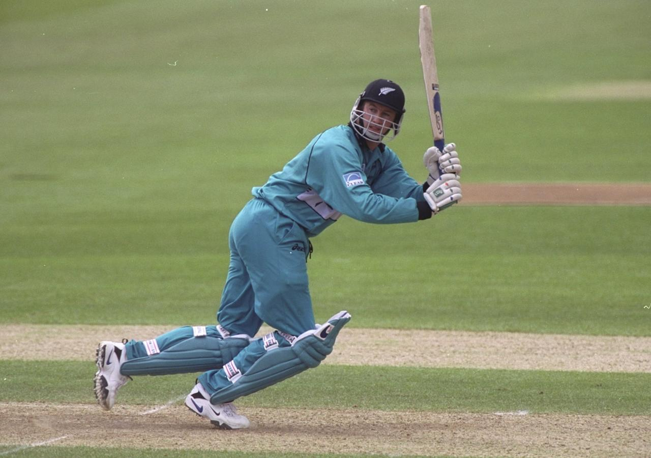 12 May 1999:  Chris Harris of New Zealand batting during a Cricket World Cup warm up match played against Surrey at The Oval in London, England.  \ Mandatory Credit: Graham Chadwick /Allsport