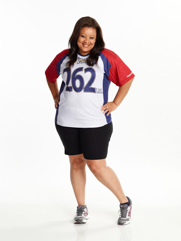 "Tanya Winfield competes on NBC's ""The Biggest Loser"" Season 15."
