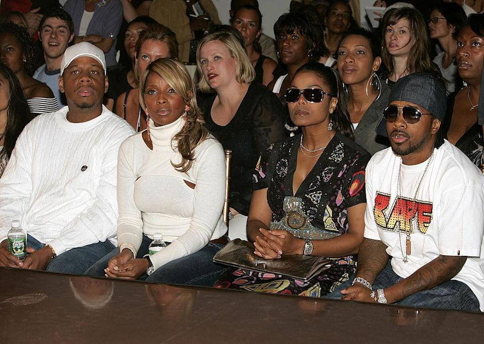 <p>Kendu Isaacs, Mary J. Blige, Janet Jackson and Jermaine Dupree take fashion really seriously. <i>(Peter Kramer/Getty Images)</i><br></p>