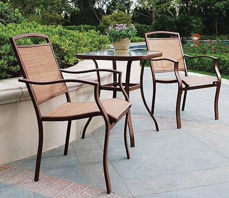 Mainstays Sand Dune 3-Piece Outdoor Bistro Set. (Photo: Walmart)