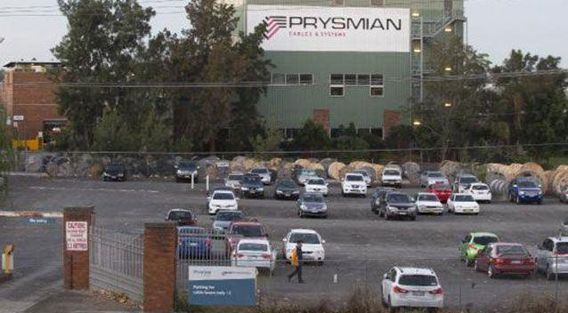 Prysmian Cables & Systems in Liverpool where the syndicate had worked prior to the lotto win. Source: Supplied.