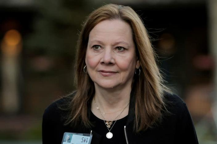 FILE PHOTO: General Motors' chief executive, Mary Barra, pictured at an industry conference
