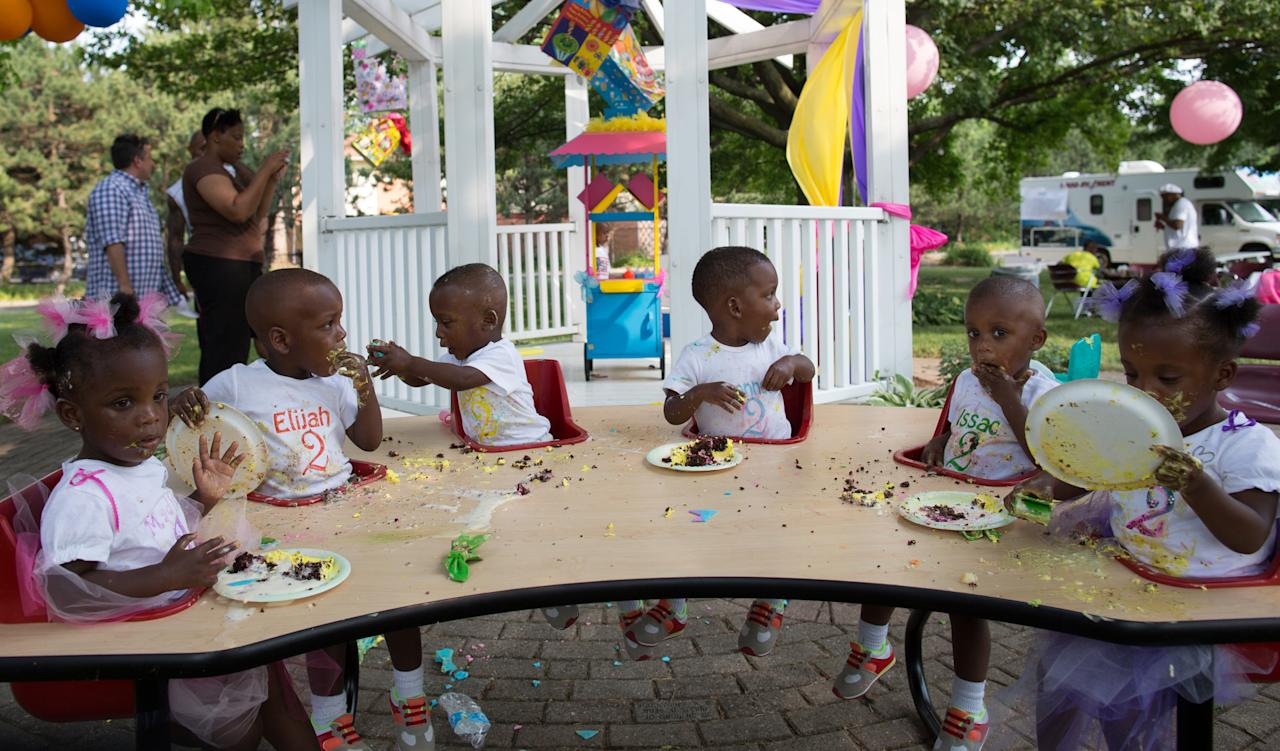 The McGhee Sextuplets celebrate their second birthday, June 2012.