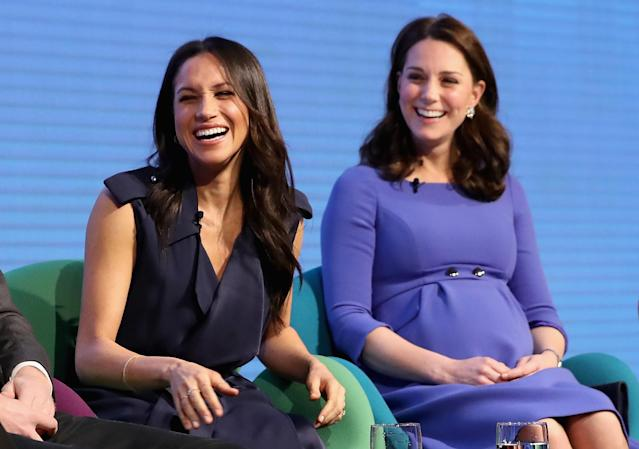 Does the royal family treat Meghan Markle differently than Kate Middleton? (Photo: Getty Images)