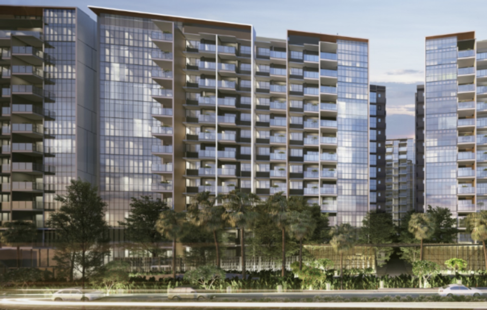 Artist impression of Affinity at Serangoon, developed by the joint venture of Oxley Holdings Ltd, SLB Development Ltd, Apricot Capital and KSH Holdings Ltd. (Source: Affinity at Serangoon)