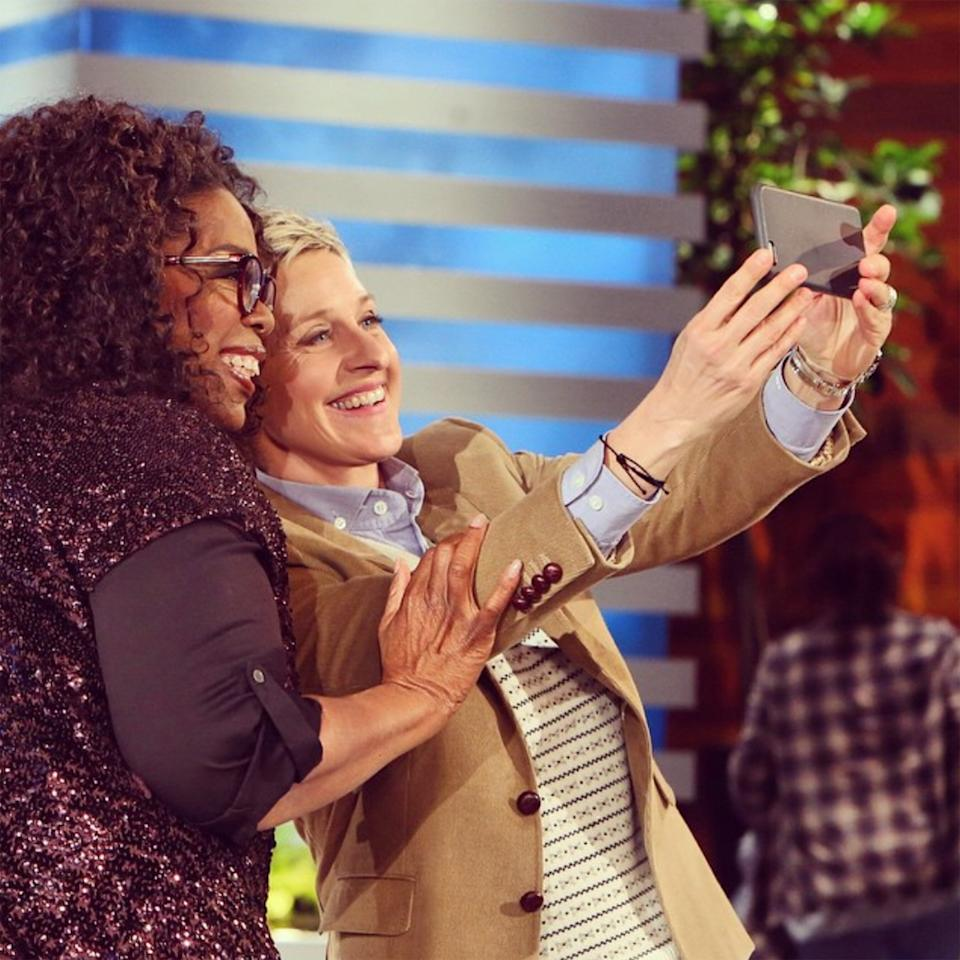 """Oprah was a guest star on <a href=""""https://people.com/tv/ellen-degeneres-death-threats-after-coming-out/"""">Ellen's '90s sitcom</a>, playing the therapist that helps her character come out. When Ellen <a href=""""https://people.com/tv/ellen-degeneres-talks-coming-out/"""">followed suit in real life</a>, she talked about it on Oprah's show. The pair have been close ever since. And they're not just friends, they're <a href=""""https://www.youtube.com/watch?v=sfx1cf8hav0"""">actually neighbors</a>."""