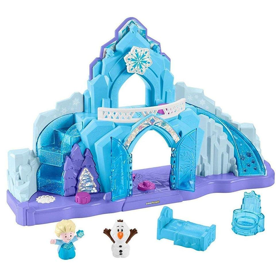 "<p><strong>Fisher-Price</strong></p><p>walmart.com</p><p><strong>$39.82</strong></p><p><a href=""https://go.redirectingat.com?id=74968X1596630&url=https%3A%2F%2Fwww.walmart.com%2Fip%2F847490590&sref=https%3A%2F%2Fwww.goodhousekeeping.com%2Fchildrens-products%2Ftoy-reviews%2Fg4695%2Fbest-kids-toys%2F"" rel=""nofollow noopener"" target=""_blank"" data-ylk=""slk:Shop Now"" class=""link rapid-noclick-resp"">Shop Now</a></p><p>This interactive castle brings Elsa and Olaf to life with <strong>lights, sounds, and hidden surprises to uncover.</strong> Plus it's great for kids who want to hear ""Let It Go"" again and again.<br></p><p><strong>RELATED:</strong> <a href=""https://www.goodhousekeeping.com/childrens-products/toy-reviews/a29366071/build-a-bear-workshops-frozen-2-elsa-anna-bear/"" rel=""nofollow noopener"" target=""_blank"" data-ylk=""slk:Build-a-Bear's 'Frozen II' Bears Will Melt Any Frozen Heart"" class=""link rapid-noclick-resp"">Build-a-Bear's 'Frozen II' Bears Will Melt Any Frozen Heart</a></p>"