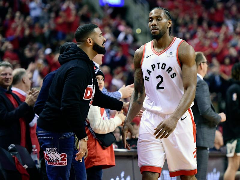 Did Drake cross line massaging Raptors coach during game?