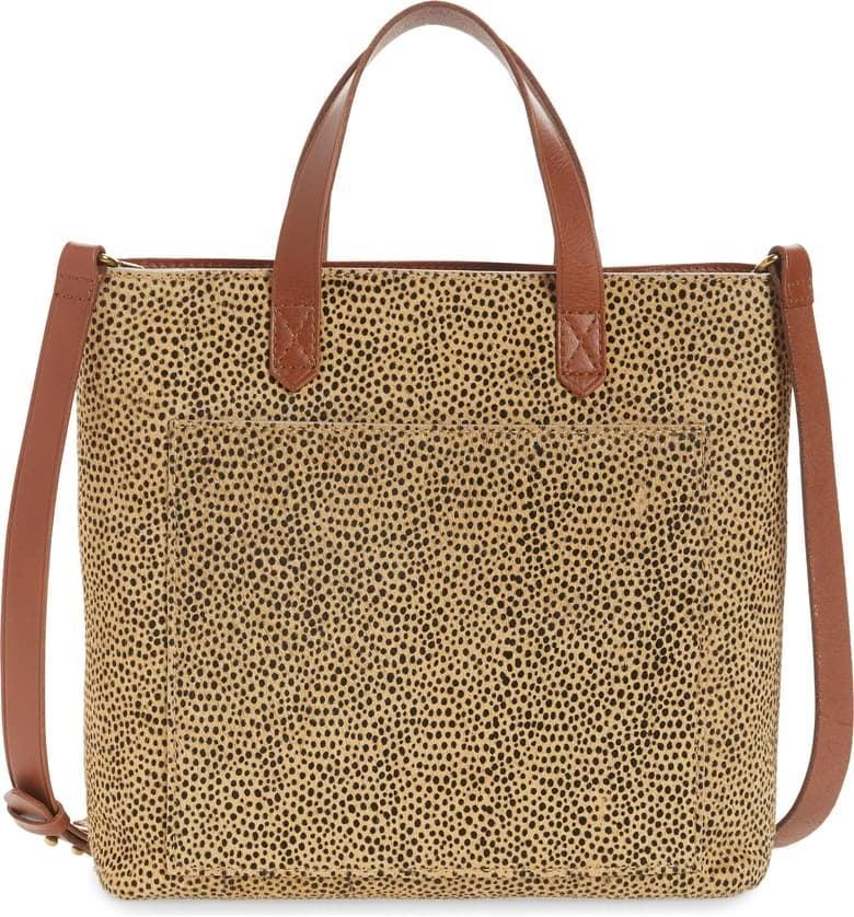 <p><span>Madewell The Zip Top Small Spotted Calf Hair Transport Crossbody Bag</span> ($50, originally $168)</p>