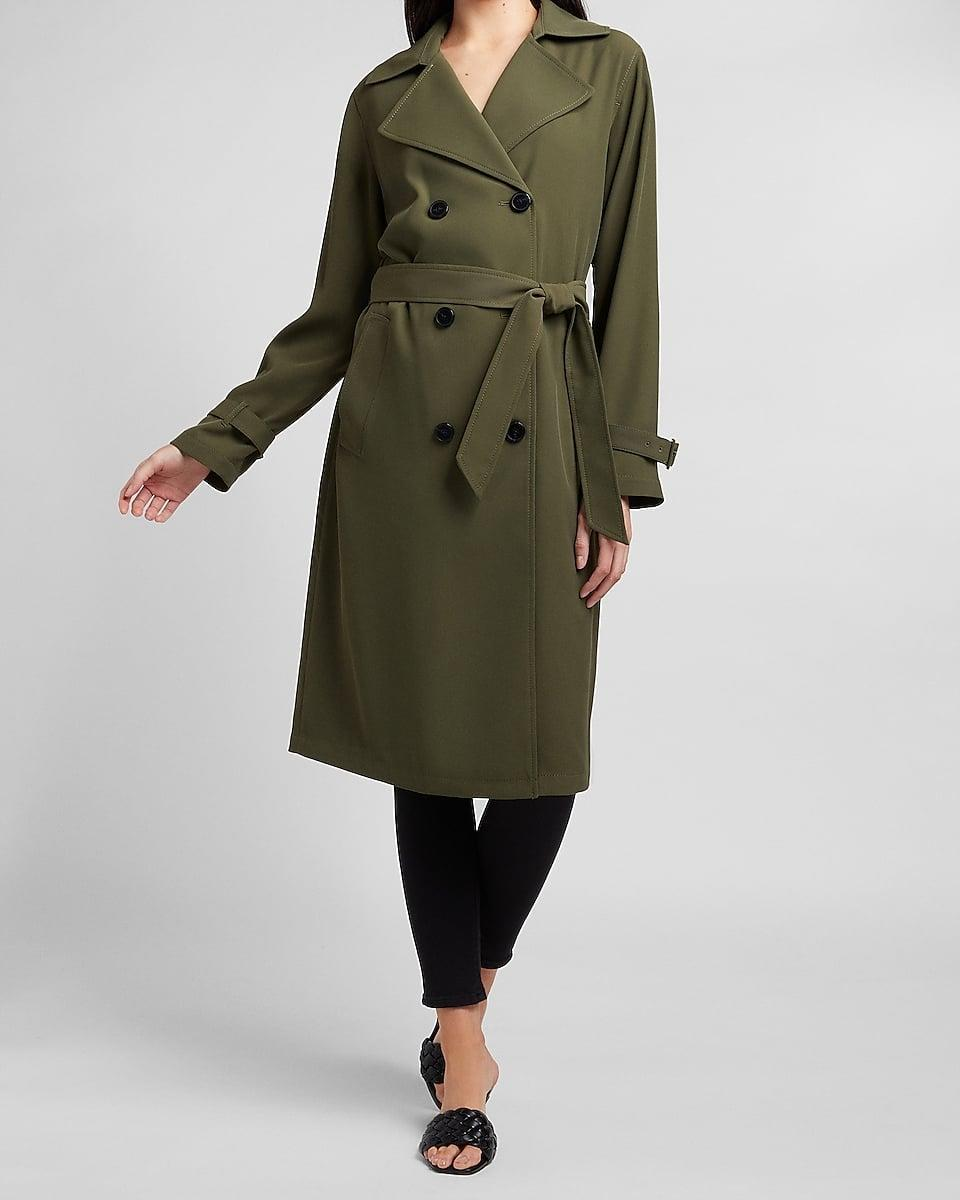 <p>A classic <span>Belted Double Breasted Trench Coat</span> ($148) will never get old. </p>